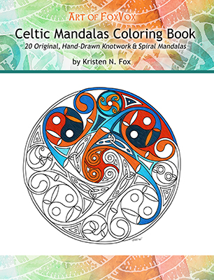 Art Of FoxVox Celtic Mandala Coloring Book