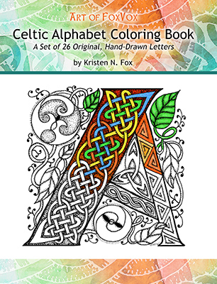 The Art of FoxVox Celtic Alphabet Coloring Book for Kids and Adults