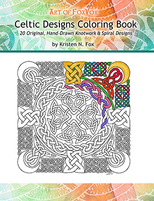 Original Coloring Books for Adults – Art of FoxVox – Original Celtic ...