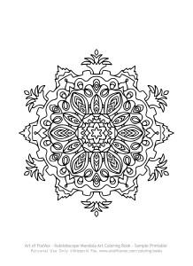 KaleidoscopeMandalaArtColoringBook-SamplePrintable