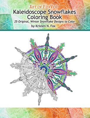 Choose A Colored Pencil Pen Or Marker And Start Coloring The Kaleidoscope Patterns Of These Unique Ice Crystal Snowflakes 25 Original Designs Are