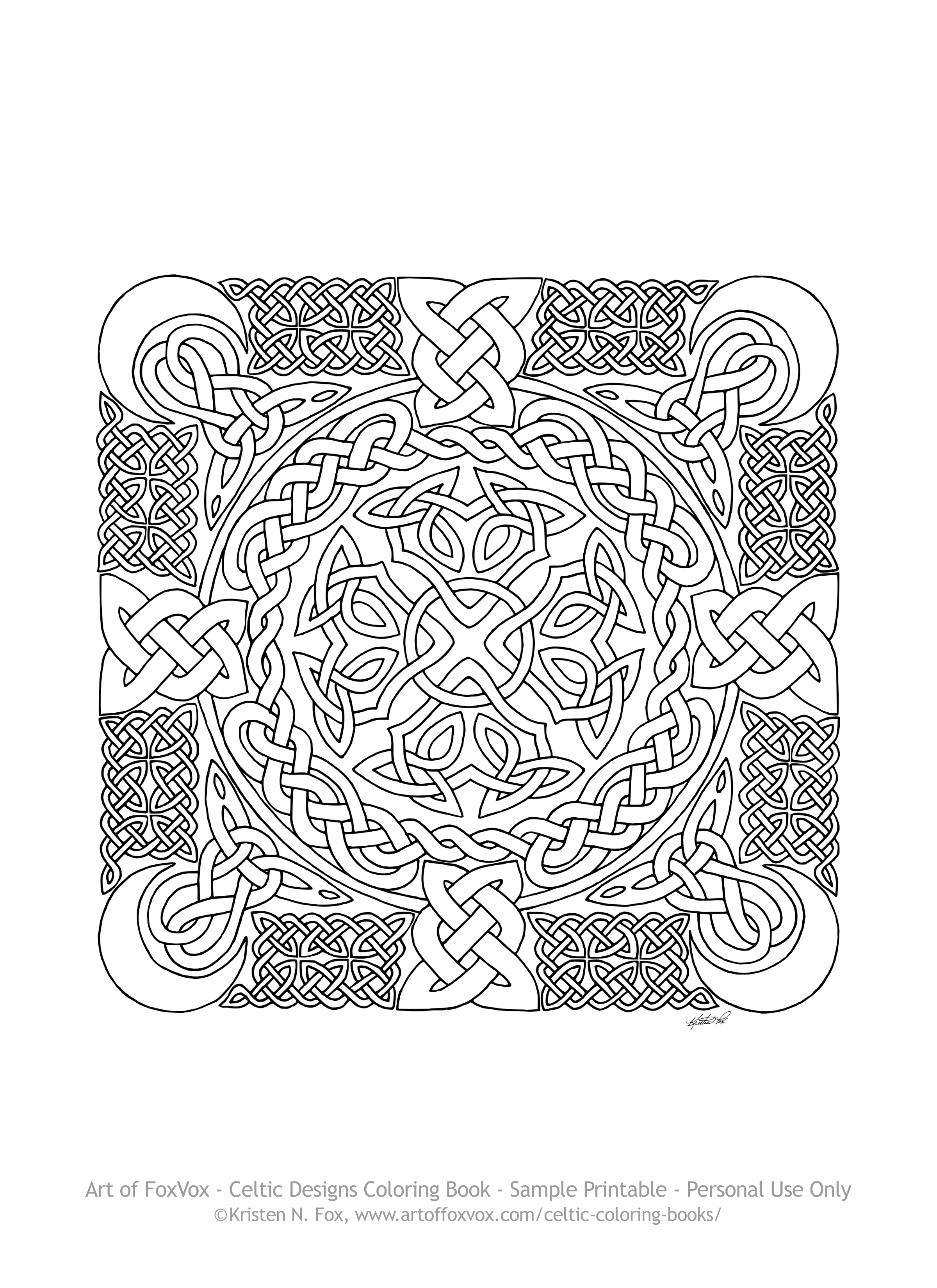 Free Celtic Design To Print And Color