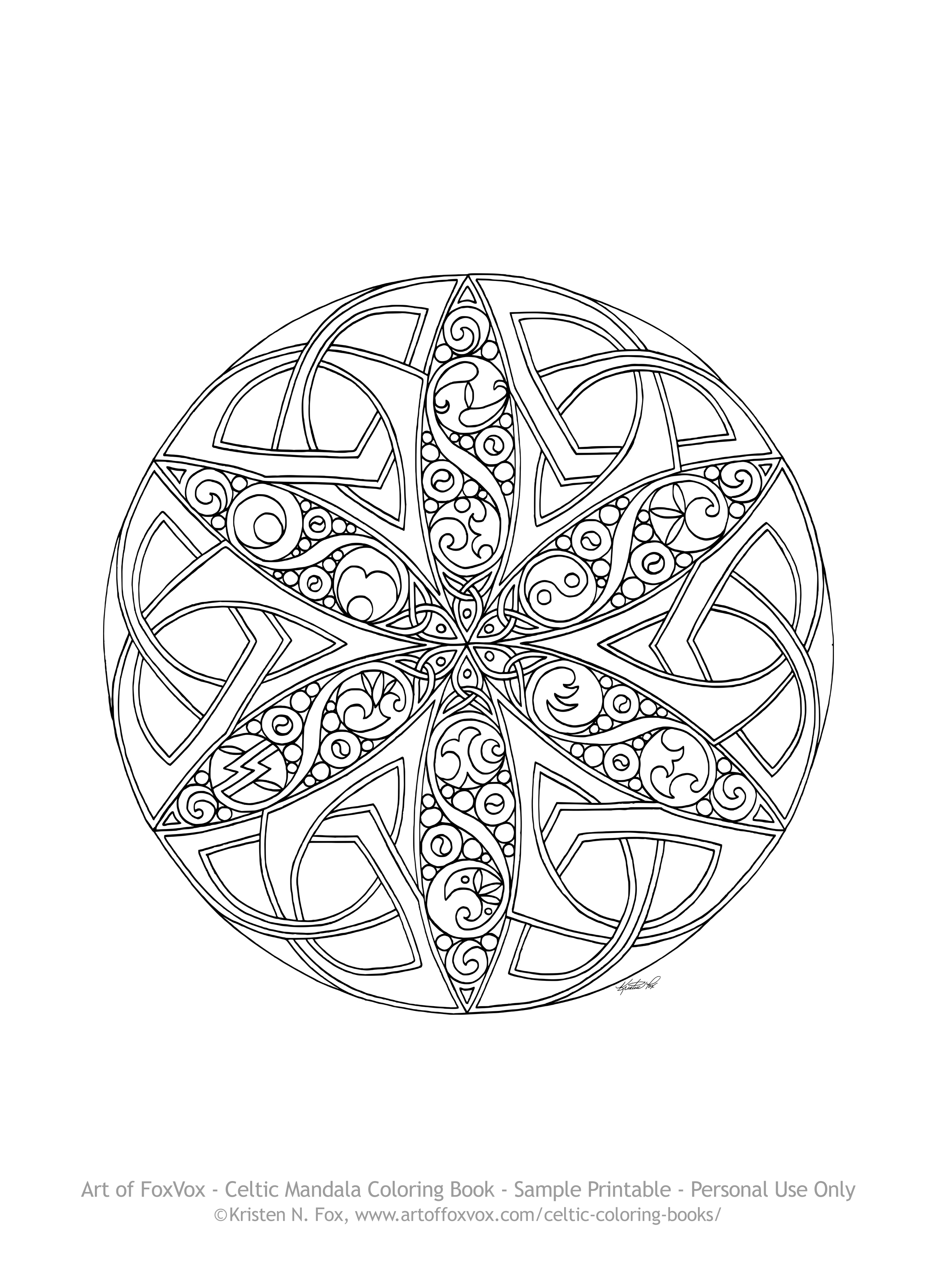 Printable Celtic Mandala Coloring Pages Coloring Pages Ideas